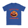NFL – Halloween Pumpkin Dallas Cowboys Football NFL Shirts-T-shirt-Gildan Womens T-Shirt-Royal Blue-S-Itees Global