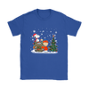 NFL – Denver Broncos Snoopy The Peanuts Movie Christmas Football Super Bowl Shirt-T-shirt-Gildan Womens T-Shirt-Royal Blue-S-PopsSpot