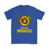 NFL - Denver Broncos Sunflower Football NFL Shirts-T-shirt-Gildan Womens T-Shirt-Royal Blue-S-Itees Global