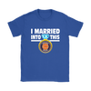NFL - I Married Into This Chicago Bears Football Sweatshirt-T-shirt-Gildan Womens T-Shirt-Royal Blue-S-PopsSpot