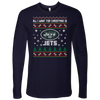 NFL - All I Want For Christmas Is New York Jets Football Shirts-T-shirt-Next Level Mens Long Sleeve-Midnight Navy-S-Itees Global