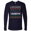 NFL - All I Want For Christmas Is Dallas Cowboys Football Shirts-T-shirt-Next Level Mens Long Sleeve-Midnight Navy-S-PopsSpot