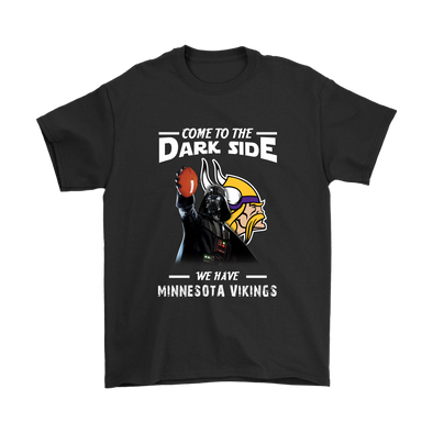Come To The Dark Side We Have Minnesota Vikings Shirts-T-shirt-Gildan Mens T-Shirt-Black-S-Itees Global
