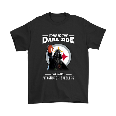 Come To The Dark Side We Have Pittsburgh Steelers Shirts-T-shirt-Gildan Mens T-Shirt-Black-S-Itees Global