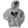 NFL – Atlanta Falcons Mickey Mouse Football Shirt-T-shirt-Youth Hoodie-Athletic Heather-XS-PopsSpot