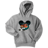 NFL – Cincinnati Bengals Mickey Mouse Football Shirt-T-shirt-Youth Hoodie-Athletic Heather-XS-PopsSpot