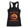NFL – Halloween Pumpkin Dallas Cowboys Football NFL Shirts-T-shirt-Next Level Racerback Tank-Black-XS-Itees Global
