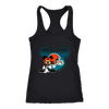 NFL – Cleveland Browns Mickey Mouse Football Shirts-T-shirt-Next Level Racerback Tank-Black-XS-Itees Global