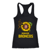 NFL - Denver Broncos Sunflower Football NFL Shirts-T-shirt-Next Level Racerback Tank-Black-XS-Itees Global