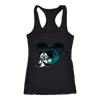 NFL – Carolina Panthers Mickey Mouse Football Shirts-T-shirt-Next Level Racerback Tank-Black-XS-Itees Global
