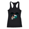 NFL – Denver Broncos Mickey Mouse Football Shirts-T-shirt-Next Level Racerback Tank-Black-XS-Itees Global