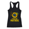 NFL - Carolina Panthers Sunflower Football NFL Shirts-T-shirt-Next Level Racerback Tank-Black-XS-Itees Global