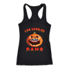 NFL – Halloween Pumpkin Los Angeles Rams Football NFL Shirts-T-shirt-Next Level Racerback Tank-Black-XS-Itees Global