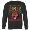 NFL - Cleveland Browns Christmas Grateful Dead Jingle Bears Football Ugly Sweatshirt-T-shirt-Crewneck Sweatshirt Big Print-Black-S-Itees Global