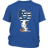Indianapolis Colts Snoopy Football Sports Shirts-T-shirt-District Youth Shirt-Royal Blue-XS-Itees Global