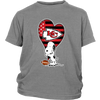 Kansas City Chiefs Snoopy Football Sports Shirts-T-shirt-District Youth Shirt-Sport Grey-XS-PopsSpot