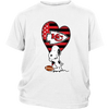 Kansas City Chiefs Snoopy Football Sports Shirts-T-shirt-District Youth Shirt-White-XS-PopsSpot