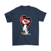 Kansas City Chiefs Snoopy Football Sports Shirts-T-shirt-Gildan Mens T-Shirt-Navy-S-PopsSpot