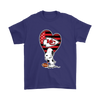 Kansas City Chiefs Snoopy Football Sports Shirts-T-shirt-Gildan Mens T-Shirt-Purple-S-PopsSpot
