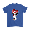 Kansas City Chiefs Snoopy Football Sports Shirts-T-shirt-Gildan Mens T-Shirt-Royal Blue-S-PopsSpot