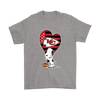 Kansas City Chiefs Snoopy Football Sports Shirts-T-shirt-Gildan Mens T-Shirt-Sport Grey-S-PopsSpot