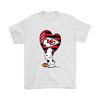 Kansas City Chiefs Snoopy Football Sports Shirts-T-shirt-Gildan Mens T-Shirt-White-S-PopsSpot