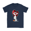 Kansas City Chiefs Snoopy Football Sports Shirts-T-shirt-Gildan Womens T-Shirt-Navy-S-PopsSpot