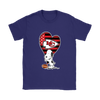 Kansas City Chiefs Snoopy Football Sports Shirts-T-shirt-Gildan Womens T-Shirt-Purple-S-PopsSpot