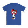 Kansas City Chiefs Snoopy Football Sports Shirts-T-shirt-Gildan Womens T-Shirt-Royal Blue-S-PopsSpot