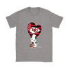 Kansas City Chiefs Snoopy Football Sports Shirts-T-shirt-Gildan Womens T-Shirt-Sport Grey-S-PopsSpot