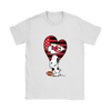 Kansas City Chiefs Snoopy Football Sports Shirts-T-shirt-Gildan Womens T-Shirt-White-S-PopsSpot