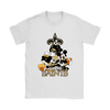 Mickey Mouse New Orleans Saints American Football NFL Sports Shirts-T-shirt-Gildan Womens T-Shirt-White-S-PopsSpot