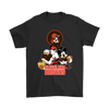 Mickey Mouse NFL Cleveland Browns American Football Sports Shirts-T-shirt-Gildan Mens T-Shirt-Black-S-Itees Global