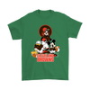 Mickey Mouse NFL Cleveland Browns American Football Sports Shirts-T-shirt-Gildan Mens T-Shirt-Irish Green-S-Itees Global