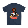 Mickey Mouse NFL Cleveland Browns American Football Sports Shirts-T-shirt-Gildan Mens T-Shirt-Navy-S-Itees Global