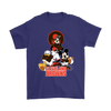 Mickey Mouse NFL Cleveland Browns American Football Sports Shirts-T-shirt-Gildan Mens T-Shirt-Purple-S-Itees Global
