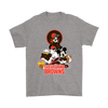 Mickey Mouse NFL Cleveland Browns American Football Sports Shirts-T-shirt-Gildan Mens T-Shirt-Sport Grey-S-Itees Global
