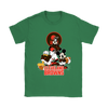 Mickey Mouse NFL Cleveland Browns American Football Sports Shirts-T-shirt-Gildan Womens T-Shirt-Irish Green-S-Itees Global