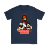 Mickey Mouse NFL Cleveland Browns American Football Sports Shirts-T-shirt-Gildan Womens T-Shirt-Navy-S-Itees Global