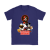 Mickey Mouse NFL Cleveland Browns American Football Sports Shirts-T-shirt-Gildan Womens T-Shirt-Purple-S-Itees Global