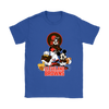 Mickey Mouse NFL Cleveland Browns American Football Sports Shirts-T-shirt-Gildan Womens T-Shirt-Royal Blue-S-Itees Global