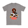 Mickey Mouse NFL Cleveland Browns American Football Sports Shirts-T-shirt-Gildan Womens T-Shirt-Sport Grey-S-Itees Global