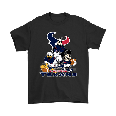 Mickey Mouse NFL Houston Texans American Football Sports Shirts-T-shirt-Gildan Mens T-Shirt-Black-S-Itees Global