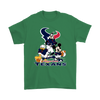 Mickey Mouse NFL Houston Texans American Football Sports Shirts-T-shirt-Gildan Mens T-Shirt-Irish Green-S-Itees Global