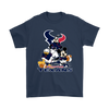 Mickey Mouse NFL Houston Texans American Football Sports Shirts-T-shirt-Gildan Mens T-Shirt-Navy-S-Itees Global