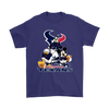 Mickey Mouse NFL Houston Texans American Football Sports Shirts-T-shirt-Gildan Mens T-Shirt-Purple-S-Itees Global