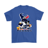 Mickey Mouse NFL Houston Texans American Football Sports Shirts-T-shirt-Gildan Mens T-Shirt-Royal Blue-S-Itees Global