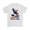Mickey Mouse NFL Houston Texans American Football Sports Shirts-T-shirt-Gildan Mens T-Shirt-White-S-Itees Global