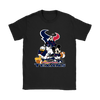 Mickey Mouse NFL Houston Texans American Football Sports Shirts-T-shirt-Gildan Womens T-Shirt-Black-S-Itees Global