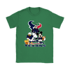 Mickey Mouse NFL Houston Texans American Football Sports Shirts-T-shirt-Gildan Womens T-Shirt-Irish Green-S-Itees Global